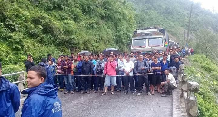 नारायणगण–मुग्लिन सडकखण्डमा बसको ठक्करबाट गएराति पैदलयात्रीको मृत्यु