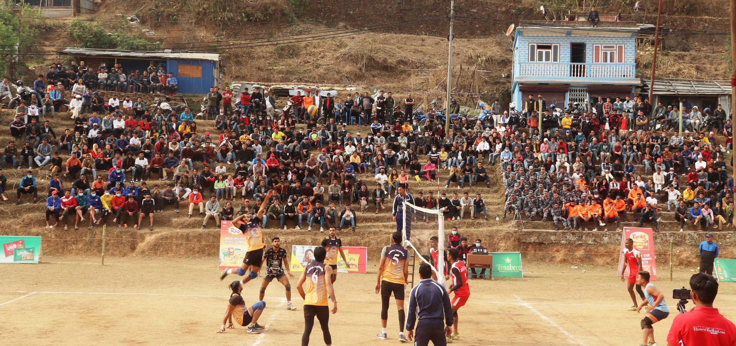 इलाममा जारी भलिबलमा डिफेण्डिङ्ग च्याम्पियन गण्डकी  पराजित , आर्मी र एपिएफ विजयी